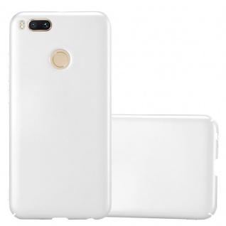 Cadorabo Hülle für Xiaomi Mi A1 / 5X in METALL SILBER - Hardcase Handyhülle aus Plastik gegen Kratzer und Stöße - Schutzhülle Bumper Ultra Slim Back Case Hard Cover