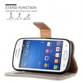 Cadorabo Hülle für Samsung Galaxy TREND LITE in CAPPUCCINO BRAUN ? Handyhülle mit Magnetverschluss, Standfunktion und Kartenfach ? Case Cover Schutzhülle Etui Tasche Book Klapp Style - Vorschau 5