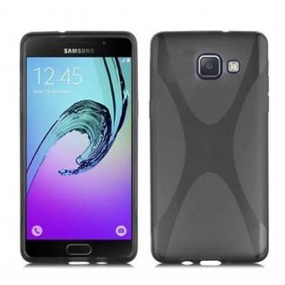 Cadorabo Hülle für Samsung Galaxy A5 2016 in OXID SCHWARZ - Handyhülle aus flexiblem TPU Silikon - Silikonhülle Schutzhülle Ultra Slim Soft Back Cover Case Bumper