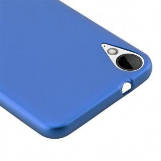 Cadorabo Hülle für HTC 10 LIFESTYLE / DESIRE 825 in METALLIC BLAU - Handyhülle aus flexiblem TPU Silikon - Silikonhülle Schutzhülle Ultra Slim Soft Back Cover Case Bumper - Vorschau 2