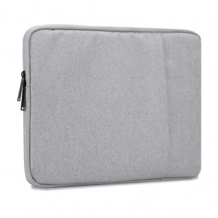 Cadorabo Laptop / Tablet Tasche 15, 6'' Zoll in GRAU ? Notebook Computer Tasche aus Stoff mit Samt-Innenfutter und Fach mit Anti-Kratz Reißverschluss ? Schutzhülle Sleeve Case