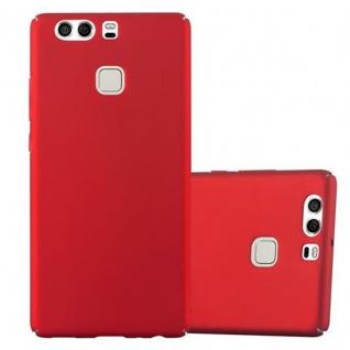 Cadorabo Hülle für Huawei P9 in METALL ROT - Hardcase Handyhülle aus Plastik gegen Kratzer und Stöße - Schutzhülle Bumper Ultra Slim Back Case Hard Cover