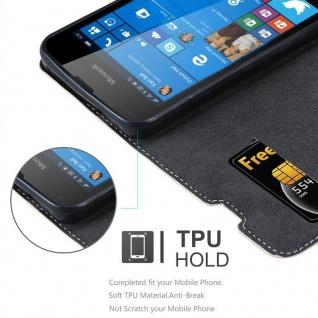 Cadorabo Hülle für Nokia Lumia 550 in ROSÉ GOLD SCHWARZ ? Handyhülle mit Magnetverschluss, Standfunktion und Kartenfach ? Case Cover Schutzhülle Etui Tasche Book Klapp Style