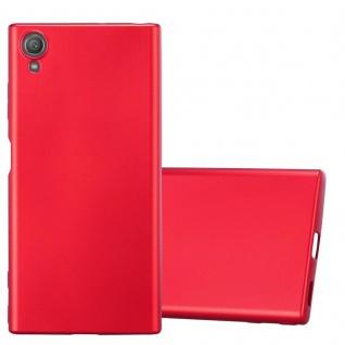 Cadorabo Hülle für Sony Xperia XA1 PLUS in METALLIC ROT - Handyhülle aus flexiblem TPU Silikon - Silikonhülle Schutzhülle Ultra Slim Soft Back Cover Case Bumper