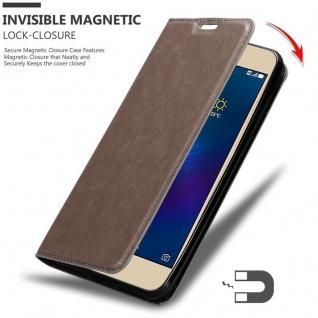 Cadorabo Hülle für Asus ZenFone 3 MAX (5, 2 Zoll) in KAFFEE BRAUN - Handyhülle mit Magnetverschluss, Standfunktion und Kartenfach - Case Cover Schutzhülle Etui Tasche Book Klapp Style - Vorschau 3