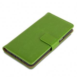 Cadorabo Hülle für Samsung Galaxy A5 2016 in GRAS GRÜN ? Handyhülle mit Magnetverschluss, Standfunktion und Kartenfach ? Case Cover Schutzhülle Etui Tasche Book Klapp Style - Vorschau 4