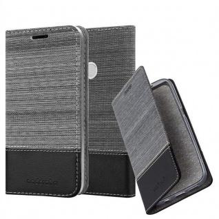 Cadorabo Hülle für Xiaomi Red Mi NOTE 5A Prime in GRAU SCHWARZ - Handyhülle mit Magnetverschluss, Standfunktion und Kartenfach - Case Cover Schutzhülle Etui Tasche Book Klapp Style