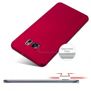 Cadorabo Hülle für Samsung Galaxy S6 EDGE PLUS in METALL ROT - Hardcase Handyhülle aus Plastik gegen Kratzer und Stöße - Schutzhülle Bumper Ultra Slim Back Case Hard Cover - Vorschau 4