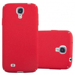 Cadorabo Hülle für Samsung Galaxy S4 in FROSTY ROT - Hardcase Handyhülle aus Plastik gegen Kratzer und Stöße - Schutzhülle Bumper Ultra Slim Back Case Hard Cover