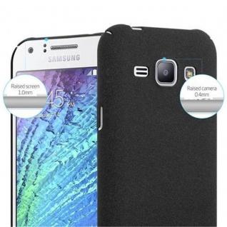 Cadorabo Hülle für Samsung Galaxy J1 2015 in FROSTY SCHWARZ - Hardcase Handyhülle aus Plastik gegen Kratzer und Stöße - Schutzhülle Bumper Ultra Slim Back Case Hard Cover - Vorschau 5