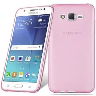 Cadorabo Hülle für Samsung Galaxy J7 2015 in TRANSPARENT PINK - Handyhülle aus flexiblem TPU Silikon - Silikonhülle Schutzhülle Ultra Slim Soft Back Cover Case Bumper - Vorschau 5