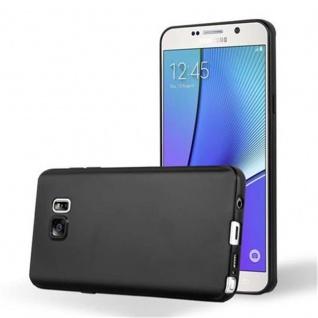 Cadorabo Hülle für Samsung Galaxy NOTE 5 in METALLIC SCHWARZ - Handyhülle aus flexiblem TPU Silikon - Silikonhülle Schutzhülle Ultra Slim Soft Back Cover Case Bumper