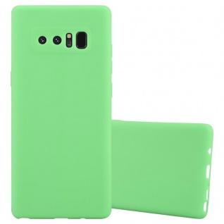 Cadorabo Hülle für Samsung Galaxy NOTE 8 in CANDY PASTELL GRÜN Handyhülle aus flexiblem TPU Silikon Silikonhülle Schutzhülle Ultra Slim Soft Back Cover Case Bumper