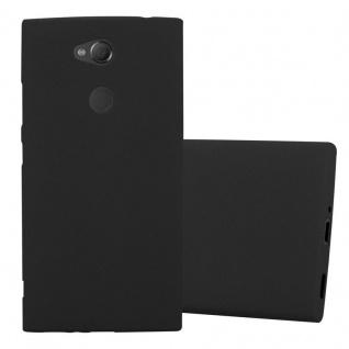 Cadorabo Hülle für Sony Xperia XA2 in FROST SCHWARZ - Handyhülle aus flexiblem TPU Silikon - Silikonhülle Schutzhülle Ultra Slim Soft Back Cover Case Bumper
