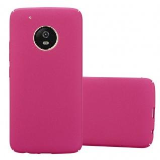 Cadorabo Hülle für Motorola MOTO G5 PLUS in FROSTY PINK - Hardcase Handyhülle aus Plastik gegen Kratzer und Stöße - Schutzhülle Bumper Ultra Slim Back Case Hard Cover