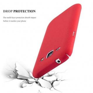 Cadorabo Hülle für Samsung Galaxy J1 2015 in FROSTY ROT - Hardcase Handyhülle aus Plastik gegen Kratzer und Stöße - Schutzhülle Bumper Ultra Slim Back Case Hard Cover - Vorschau 3