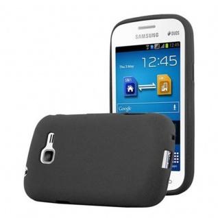 Cadorabo Hülle für Samsung Galaxy TREND LITE in FROST SCHWARZ - Handyhülle aus flexiblem TPU Silikon - Silikonhülle Schutzhülle Ultra Slim Soft Back Cover Case Bumper