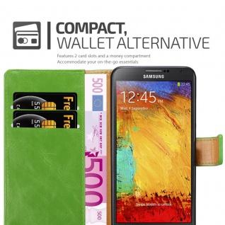 Cadorabo Hülle für Samsung Galaxy NOTE 3 NEO in GRAS GRÜN ? Handyhülle mit Magnetverschluss, Standfunktion und Kartenfach ? Case Cover Schutzhülle Etui Tasche Book Klapp Style - Vorschau 3