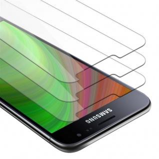Cadorabo 3x Panzer Folie für Samsung Galaxy J3 2016 - Schutzfolie in KRISTALL KLAR - 3er Pack Gehärtetes (Tempered) Display-Schutzglas in 9H Härte mit 3D Touch Kompatibilität