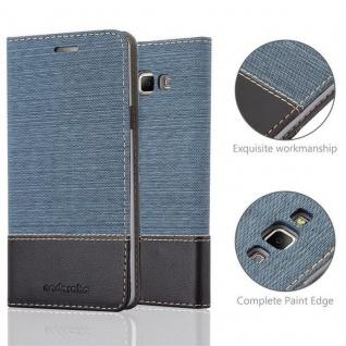 Cadorabo Hülle für Samsung Galaxy A7 2015 in DUNKEL BLAU SCHWARZ - Handyhülle mit Magnetverschluss, Standfunktion und Kartenfach - Case Cover Schutzhülle Etui Tasche Book Klapp Style - Vorschau 2