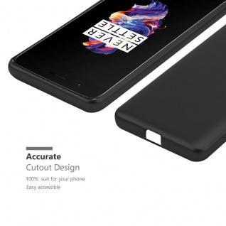 Cadorabo Hülle für OnePlus 5 in METALLIC SCHWARZ - Handyhülle aus flexiblem TPU Silikon - Silikonhülle Schutzhülle Ultra Slim Soft Back Cover Case Bumper - Vorschau 5