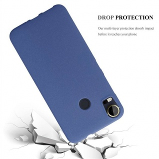 Cadorabo Hülle für HTC Desire 10 PRO in FROST DUNKEL BLAU - Handyhülle aus flexiblem TPU Silikon - Silikonhülle Schutzhülle Ultra Slim Soft Back Cover Case Bumper - Vorschau 3
