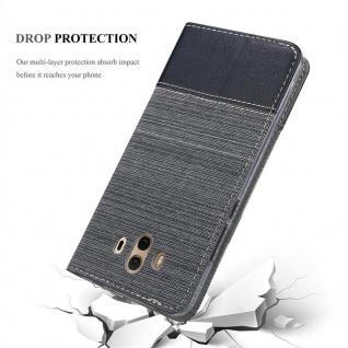 Cadorabo Hülle für Huawei MATE 10 in GRAU SCHWARZ - Handyhülle mit Magnetverschluss, Standfunktion und Kartenfach - Case Cover Schutzhülle Etui Tasche Book Klapp Style - Vorschau 5
