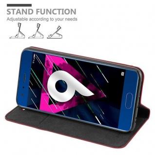 Cadorabo Hülle für Honor 9 in APFEL ROT Handyhülle mit Magnetverschluss, Standfunktion und Kartenfach Case Cover Schutzhülle Etui Tasche Book Klapp Style - Vorschau 3