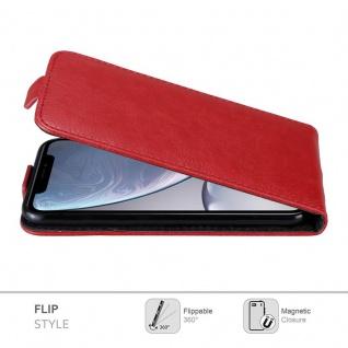 Cadorabo Hülle für Apple iPhone XR in APFEL ROT - Handyhülle im Flip Design mit Magnetverschluss - Case Cover Schutzhülle Etui Tasche Book Klapp Style - Vorschau 4