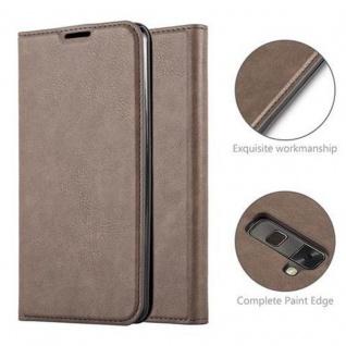 Cadorabo Hülle für LG STYLUS 2 in KAFFEE BRAUN - Handyhülle mit Magnetverschluss, Standfunktion und Kartenfach - Case Cover Schutzhülle Etui Tasche Book Klapp Style - Vorschau 2