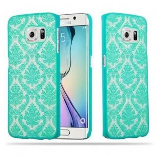 Samsung Galaxy S6 EDGE Hardcase Hülle in GRÜN von Cadorabo - Blumen Paisley Henna Design Schutzhülle ? Handyhülle Bumper Back Case Cover