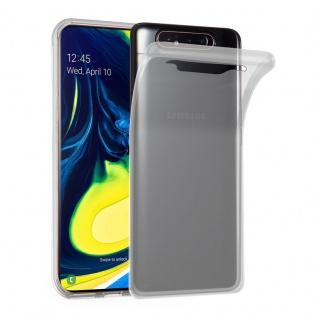Cadorabo Hülle für Samsung Galaxy A80 in VOLL TRANSPARENT - Handyhülle aus flexiblem TPU Silikon - Silikonhülle Schutzhülle Ultra Slim Soft Back Cover Case Bumper
