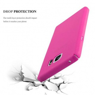 Cadorabo Hülle für Samsung Galaxy NOTE 5 in FROSTY PINK - Hardcase Handyhülle aus Plastik gegen Kratzer und Stöße - Schutzhülle Bumper Ultra Slim Back Case Hard Cover - Vorschau 4