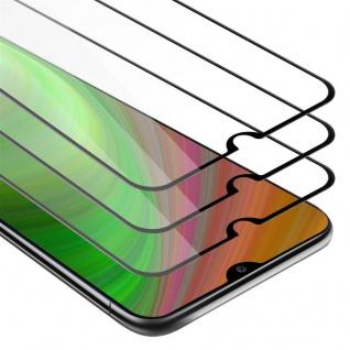 Cadorabo 3x Vollbild Panzer Folie für Samsung Galaxy A20E - Schutzfolie in TRANSPARENT mit SCHWARZ - 3er Pack Gehärtetes (Tempered) Display-Schutzglas in 9H Härte mit 3D Touch