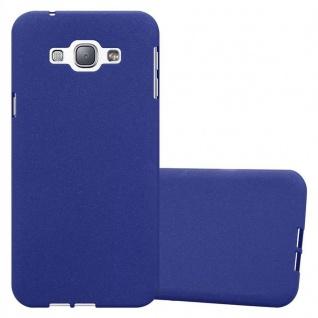 Cadorabo Hülle für Samsung Galaxy A8 2015 in FROST DUNKEL BLAU - Handyhülle aus flexiblem TPU Silikon - Silikonhülle Schutzhülle Ultra Slim Soft Back Cover Case Bumper