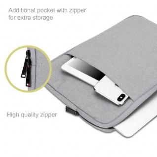 Cadorabo Laptop / Tablet Tasche 13, 3'' Zoll in GRAU ? Notebook Computer Tasche aus Stoff mit Samt-Innenfutter und Fach mit Anti-Kratz Reißverschluss ? Schutzhülle Sleeve Case - Vorschau 3