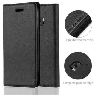 Cadorabo Hülle für HTC 10 (One M10) in NACHT SCHWARZ - Handyhülle mit Magnetverschluss, Standfunktion und Kartenfach - Case Cover Schutzhülle Etui Tasche Book Klapp Style - Vorschau 2