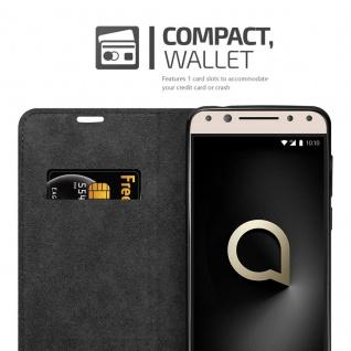 Cadorabo Hülle für Alcatel 5 in APFEL ROT Handyhülle mit Magnetverschluss, Standfunktion und Kartenfach Case Cover Schutzhülle Etui Tasche Book Klapp Style - Vorschau 4