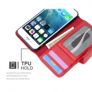 Cadorabo Hülle für Apple iPhone 7 / iPhone 7S / iPhone 8 in INFERNO ROT ? Handyhülle mit Magnetverschluss und 3 Kartenfächern ? Case Cover Schutzhülle Etui Tasche Book Klapp Style - Vorschau 3