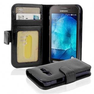 Cadorabo Hülle für Samsung Galaxy Xcover 3 in OXID SCHWARZ ? Handyhülle mit Magnetverschluss und 3 Kartenfächern ? Case Cover Schutzhülle Etui Tasche Book Klapp Style