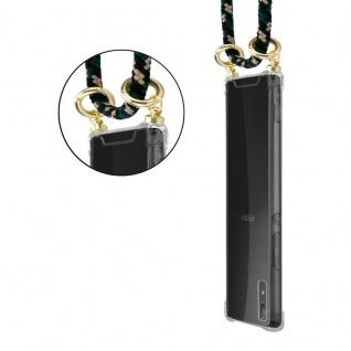 Cadorabo Handy Kette für Sony Xperia XA1 in CAMOUFLAGE ? Silikon Necklace Umhänge Hülle mit Gold Ringen, Kordel Band Schnur und abnehmbarem Etui ? Schutzhülle - Vorschau 5