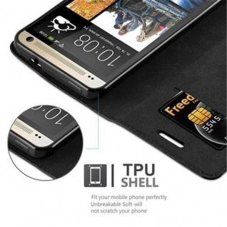 Cadorabo Hülle für HTC ONE M7 (1.Generation) in NACHT SCHWARZ - Handyhülle mit Magnetverschluss, Standfunktion und Kartenfach - Case Cover Schutzhülle Etui Tasche Book Klapp Style - Vorschau 3