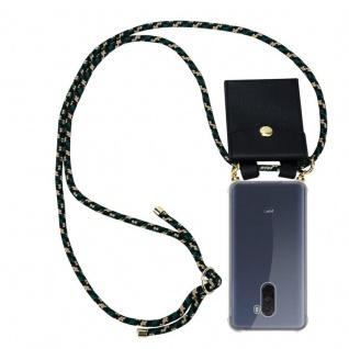 Cadorabo Handy Kette für Xiaomi Pocophone F1 in CAMOUFLAGE - Silikon Necklace Umhänge Hülle mit Gold Ringen, Kordel Band Schnur und abnehmbarem Etui ? Schutzhülle