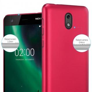 Cadorabo Hülle für Nokia 2 2017 in METALL ROT ? Hardcase Handyhülle aus Plastik gegen Kratzer und Stöße ? Schutzhülle Bumper Ultra Slim Back Case Hard Cover - Vorschau 4