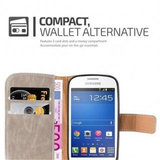 Cadorabo Hülle für Samsung Galaxy TREND LITE in CAPPUCCINO BRAUN ? Handyhülle mit Magnetverschluss, Standfunktion und Kartenfach ? Case Cover Schutzhülle Etui Tasche Book Klapp Style - Vorschau 3