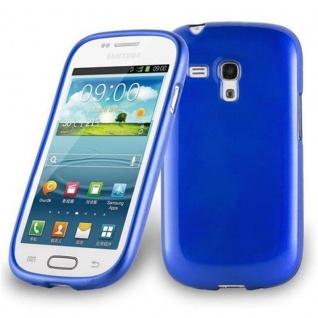 Cadorabo Hülle für Samsung Galaxy S3 MINI in BLAU - Handyhülle aus flexiblem TPU Silikon - Silikonhülle Schutzhülle Ultra Slim Soft Back Cover Case Bumper