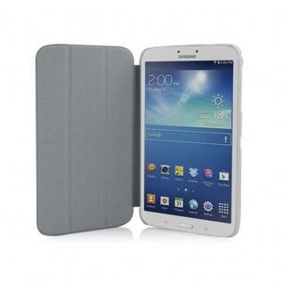 """"""" Cadorabo Hülle für Samsung Galaxy Tab 3, 0 (8"""" Zoll) - Hülle in DATTEL BRAUN ? Schutzhülle mit Auto Wake Sleep und Standfunktion - Book Style Etui Bumper Case Cover"""" - Vorschau 2"""