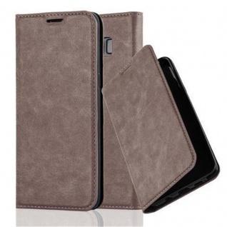 Cadorabo Hülle für Samsung Galaxy S8 in KAFFEE BRAUN - Handyhülle mit Magnetverschluss, Standfunktion und Kartenfach - Case Cover Schutzhülle Etui Tasche Book Klapp Style
