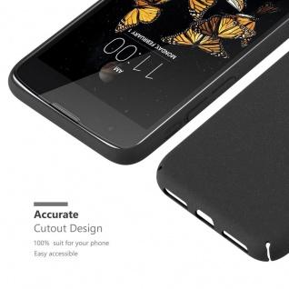 Cadorabo Hülle für LG K8 2016 in FROSTY SCHWARZ - Hardcase Handyhülle aus Plastik gegen Kratzer und Stöße - Schutzhülle Bumper Ultra Slim Back Case Hard Cover - Vorschau 5