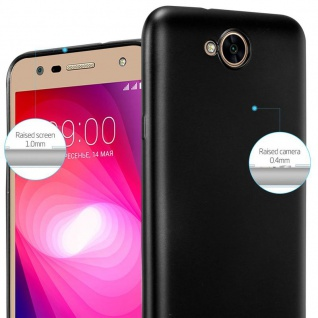 Cadorabo Hülle für LG X Power 2 in METALLIC SCHWARZ - Handyhülle aus flexiblem TPU Silikon - Silikonhülle Schutzhülle Ultra Slim Soft Back Cover Case Bumper - Vorschau 4